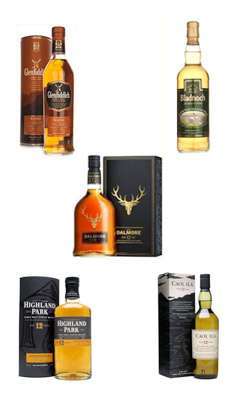 Burns Night whiskies - flight #1
